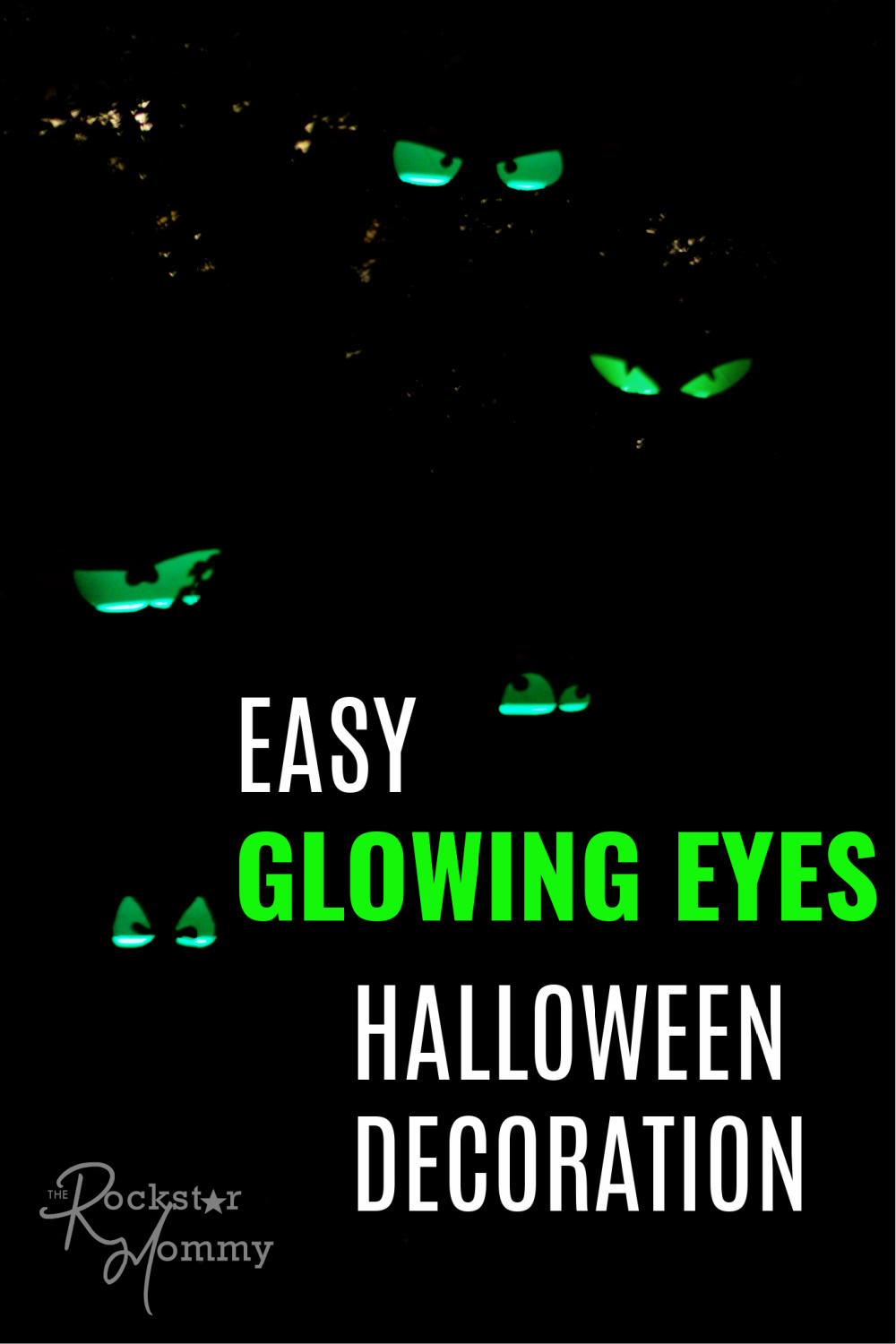 DIY glowing eyes in dark bushes